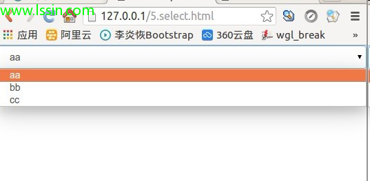 bootstrap 之 select(七)